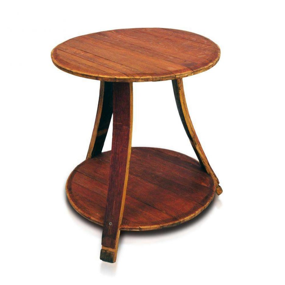 wood drum accent table style side tables hammered metal end pedestal storage coffee gold legs tiffany lamp shades black and silver patio furniture with grey platform weber grill