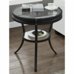 wood drum side table probably outrageous favorite end black round accent bizchair monarch specialties msp main our vintage country diameter wheel spoke cocktail with chairs brass 150x150