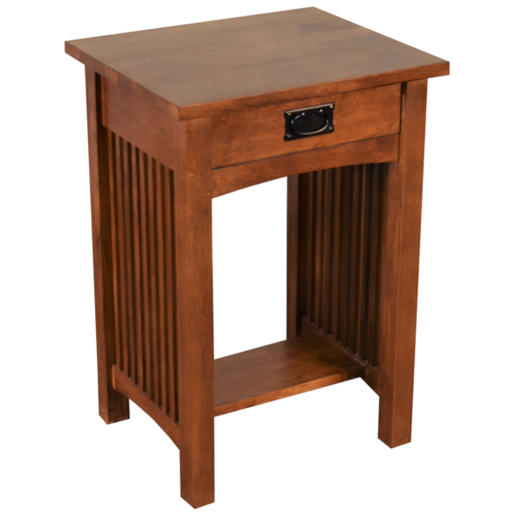 wood end tables crafters and weavers mission drawer spindle table accent black patio small balcony umbrella office wall cabinets cymbal boom stand coffee battery powered lamps set