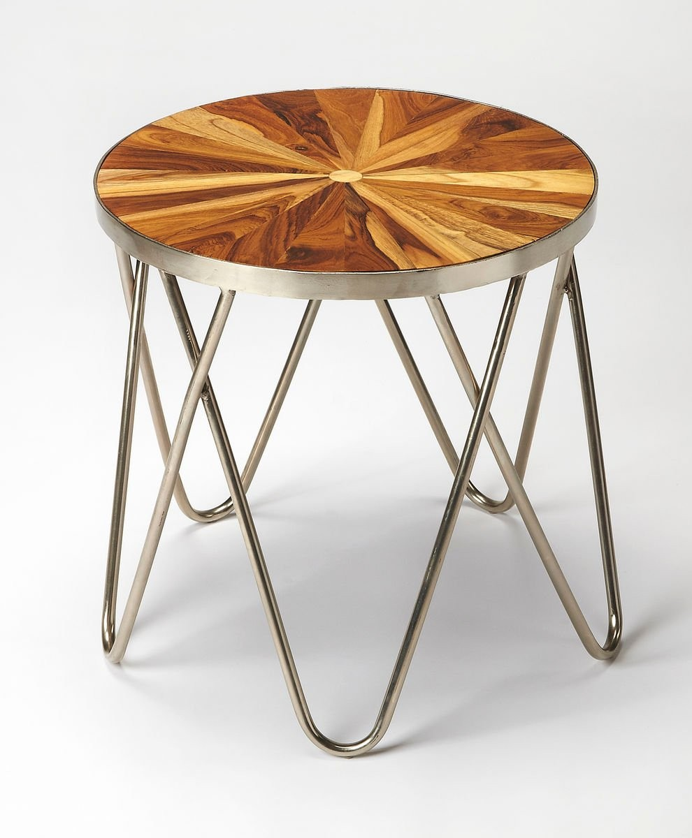 wood geometric mid century modern side table inlay accent top paperclip pier one coupon code inch round tablecloth unique lamps brown glass coffee and end tables console set drop