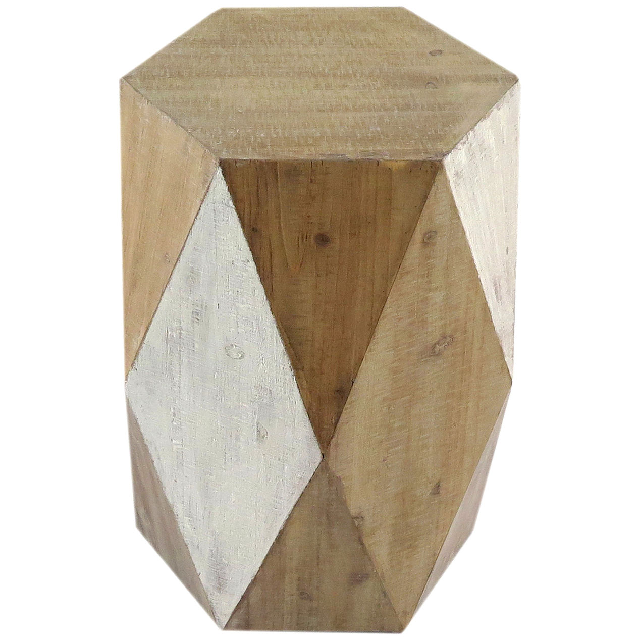 wood hexagon accent table home block mission lamp pink butterfly brown bedside cabinets mini lamps dolan lighting drawers navy blue plastic tablecloth small room furniture outdoor