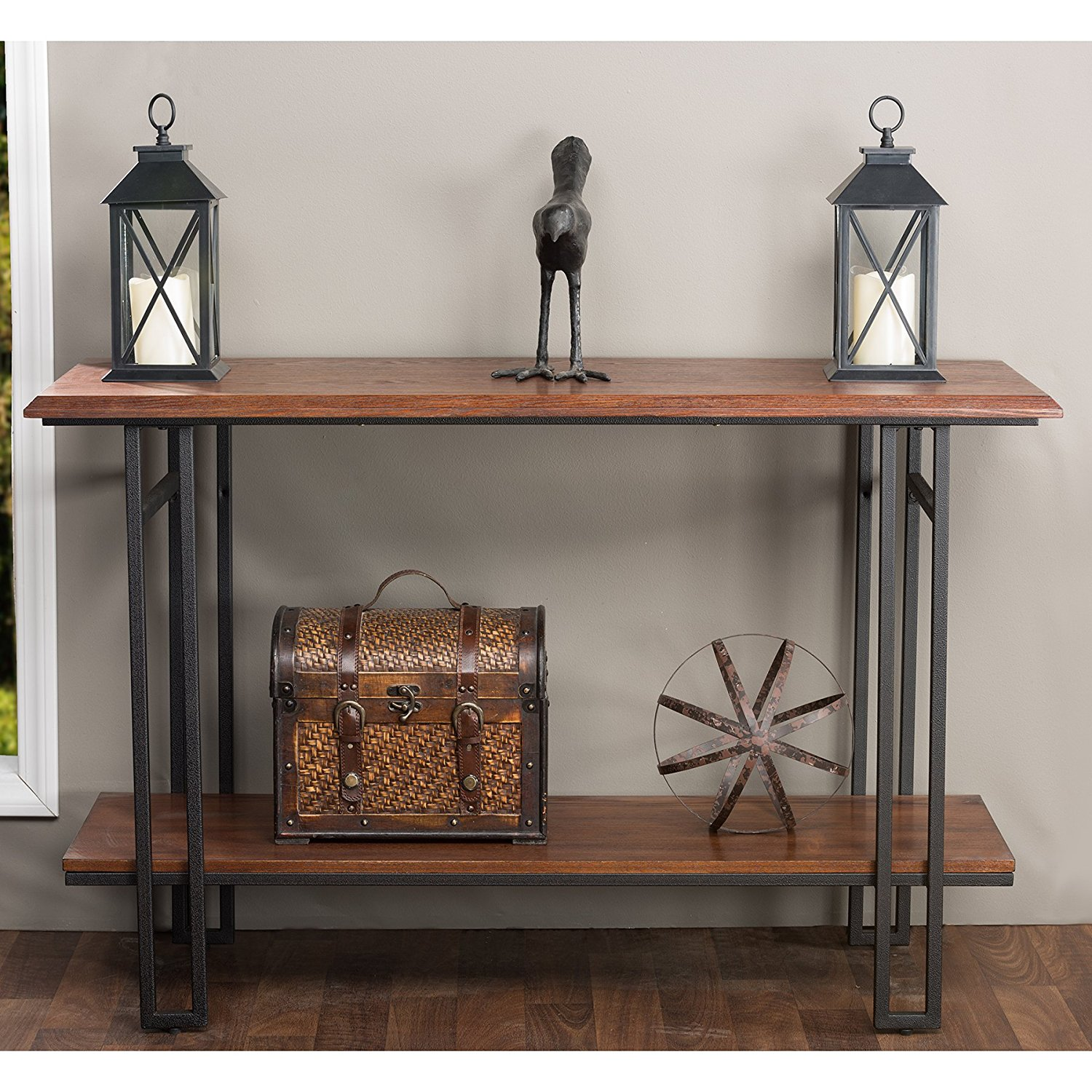 wood metal console table oak perfect decorate decor antique accent large kitchen clocks plastic outdoor folding side dining room black crystal lamp small glass garden square with