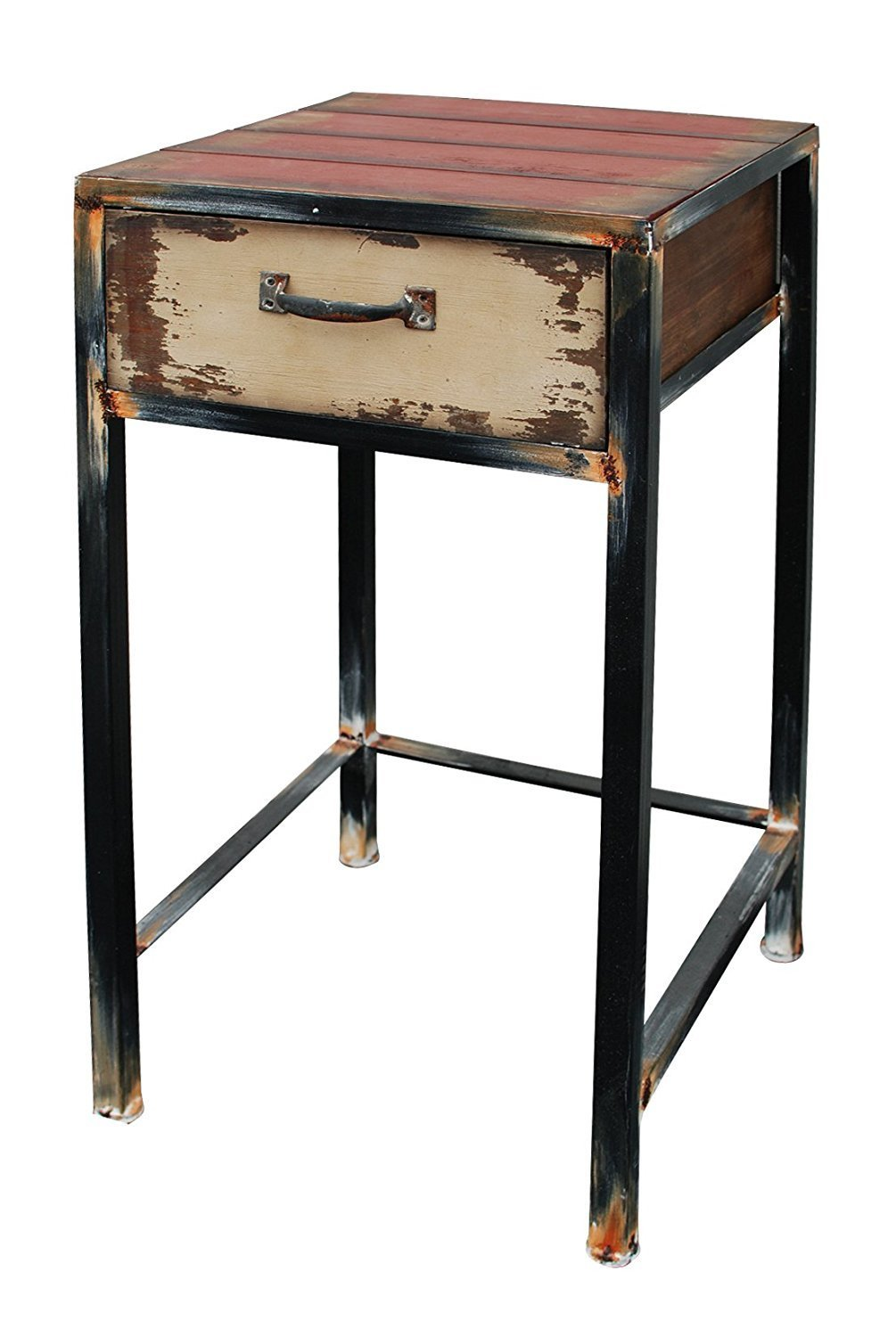 wood night stand with drawer multi purpose antique accent table metal and wooden storage baskets small round marble patio dining set bench nested furniture wellington garage
