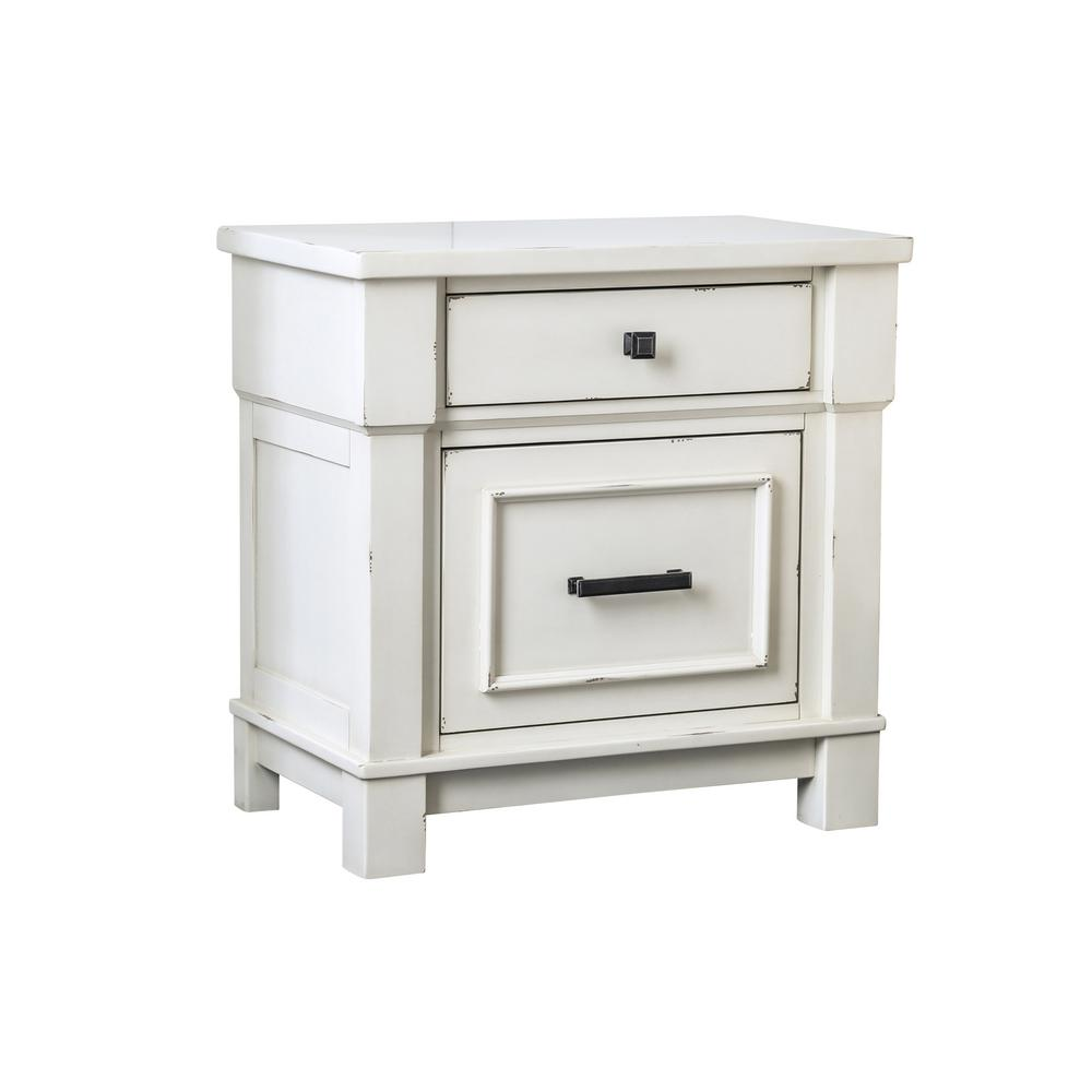 wood nightstands bedroom furniture the antique white america idf winsome ava accent table with drawer black finish abrams nightstand small width console clearance couches semi