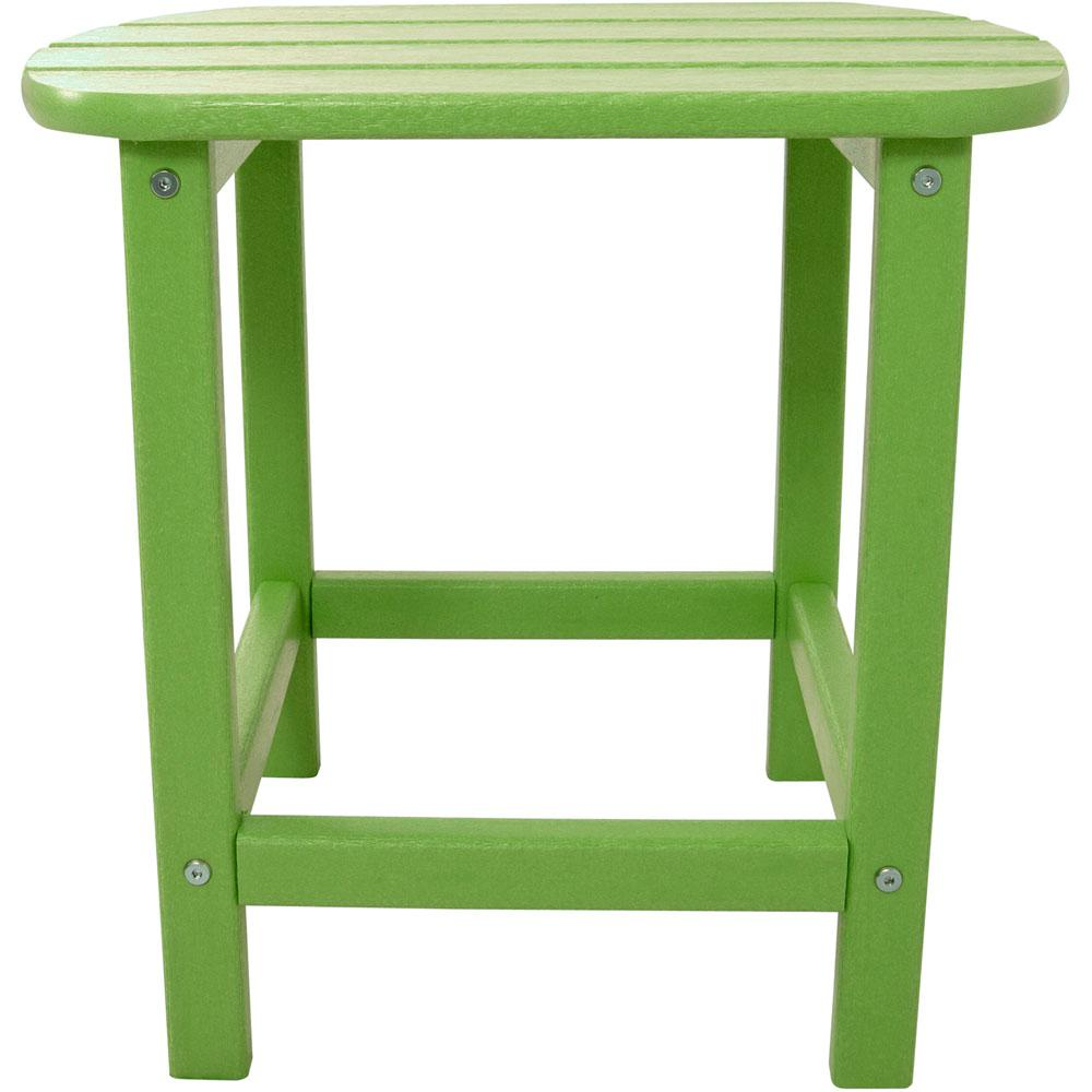 wood outdoor side tables patio the hanover lime green accent table all weather trestle supports pottery barn metal coffee drum seat height farmers furniture best cantilever