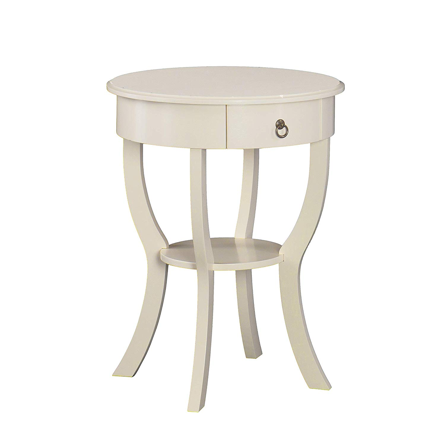 wood round side table antique white kitchen dining winsome cassie accent with glass top cappuccino finish target vanity grey cabinet acrylic console shelf tables for living room