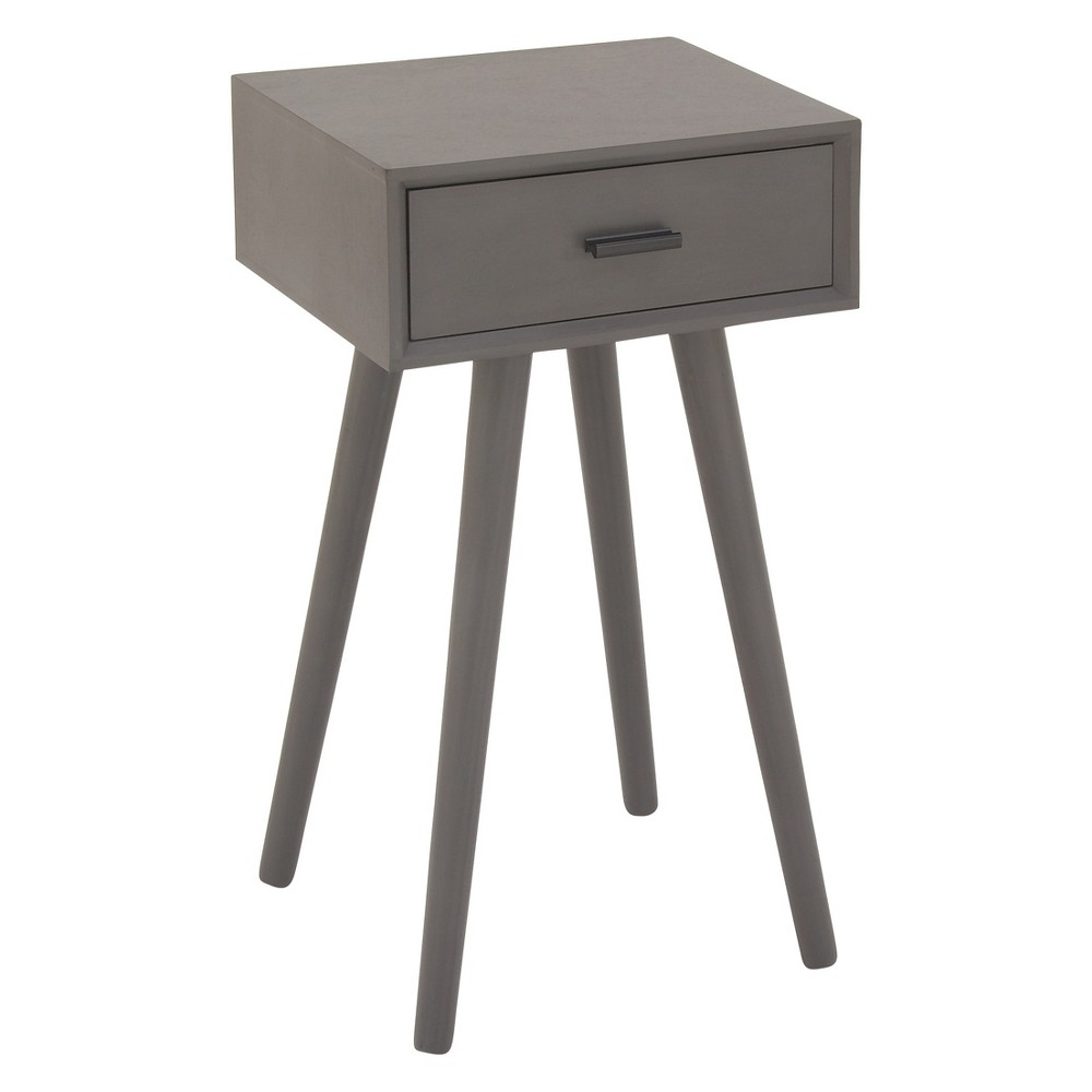wood single drawer pole legs accent table gray olivia base target square coffee toronto white and grey marble small corner bedside life simple sofa high top dining room sets west