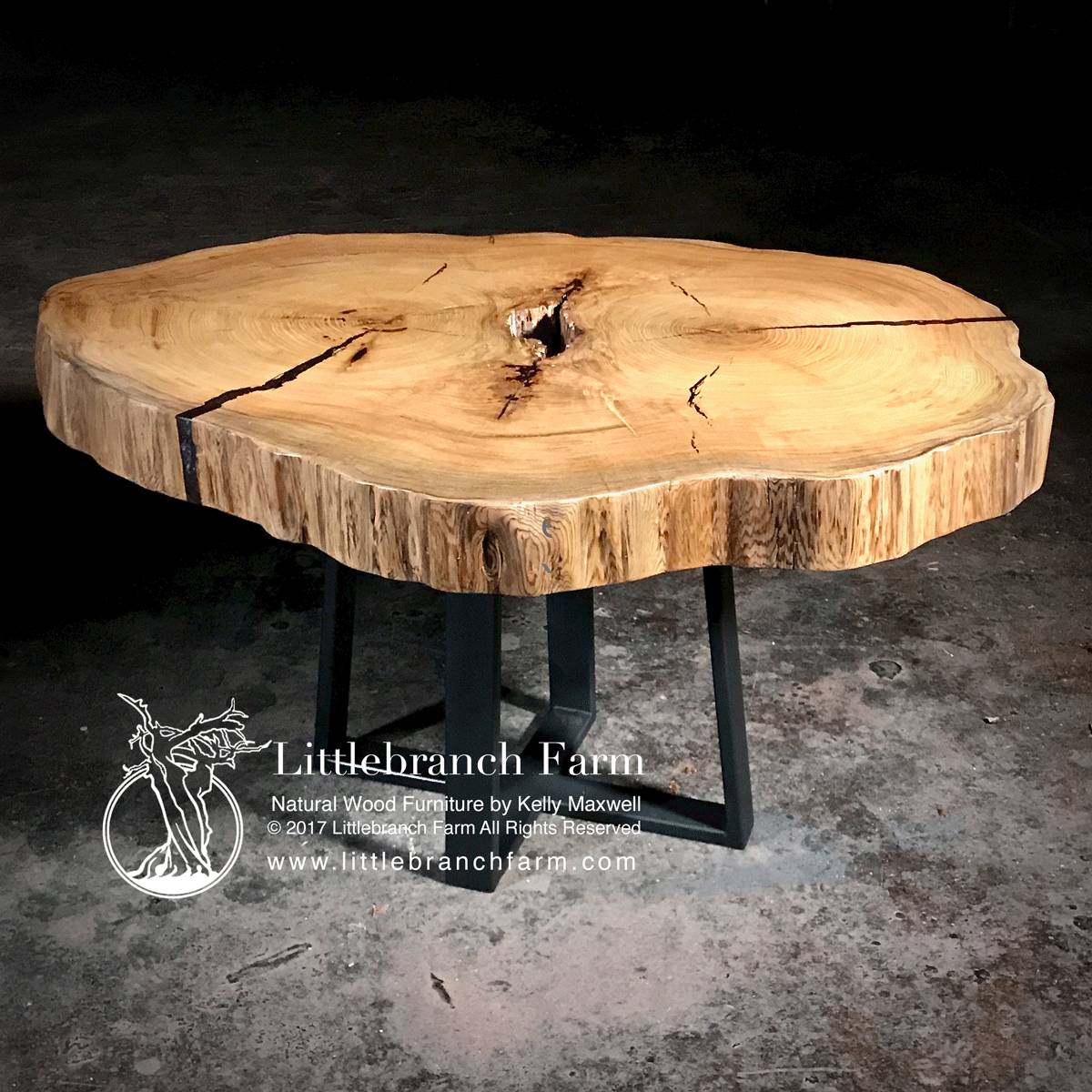 wood slab dining tables the ins and outs littlebranch farm natural table double heart cyrpress accent live edge pier one furniture small garden black patio chairs center design