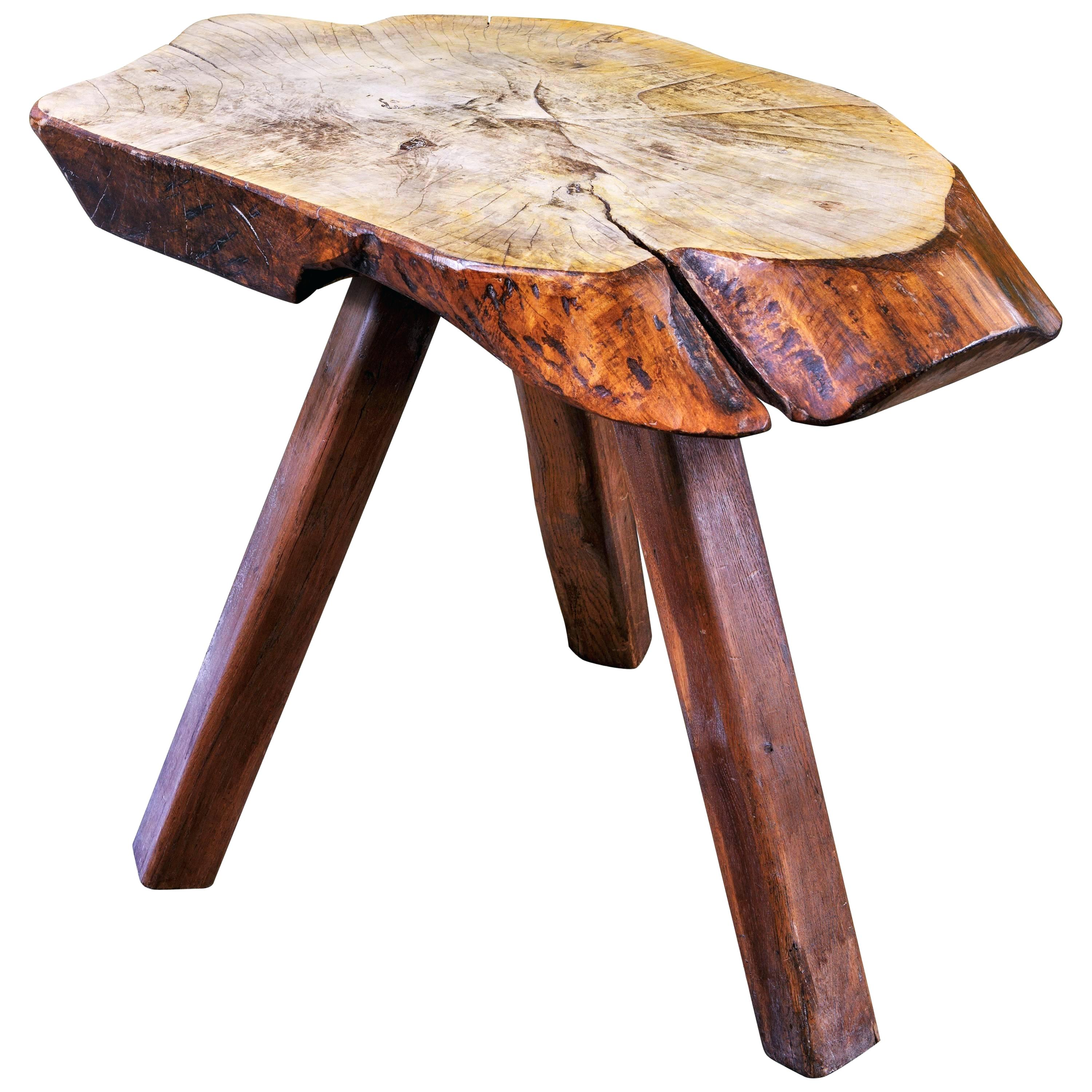 wood slab end table live edge top side walnut pedrogoes rustic with three legs for accent the owl ash coffee acrylic toronto stool jcpenney curtains battery operated lamp powered