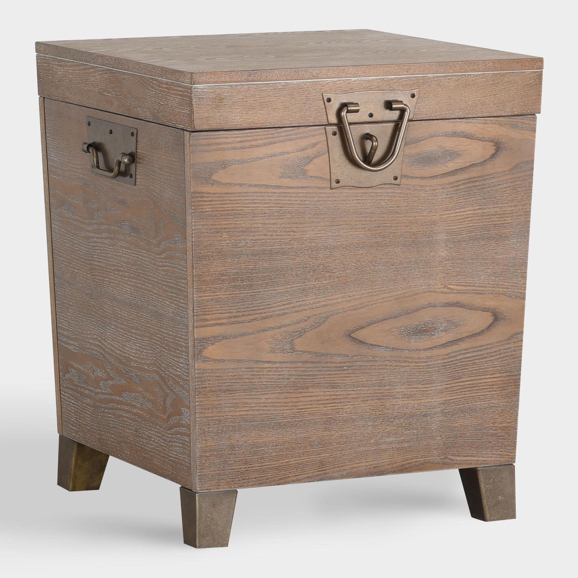 wood storage trunk tyson accent table world market products with reclaimed top ikea dark coffee walnut nest tables white and gold chair mirrored sofa console silver grey lamps