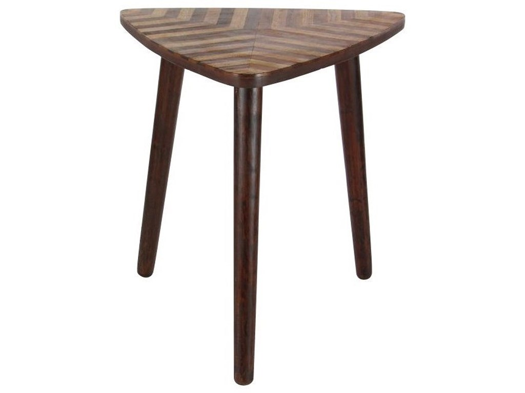 wood triangle accent table furniture uma enterprises products inc color threshold mango furniturewood gold console interesting coffee tables tablecloth rental top side tiffany