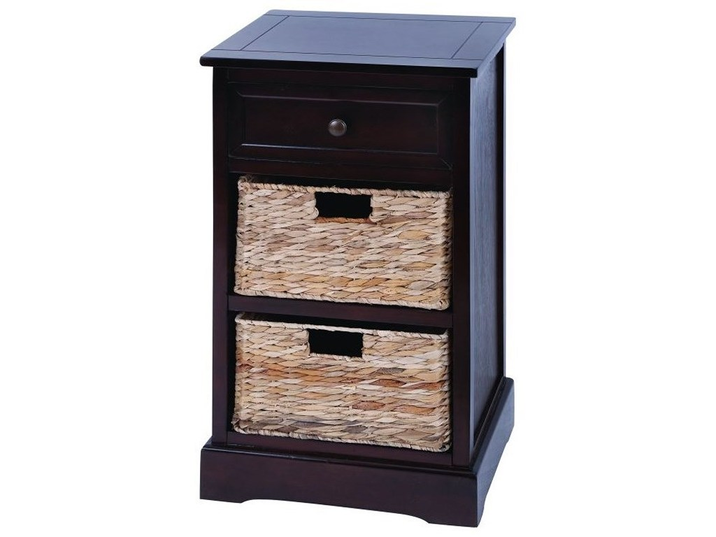 wood wicker basket side table accent furniture uma enterprises products inc color with drawers furniturewood narrow glass end dark bedside cabinets mirror coffee ikea target
