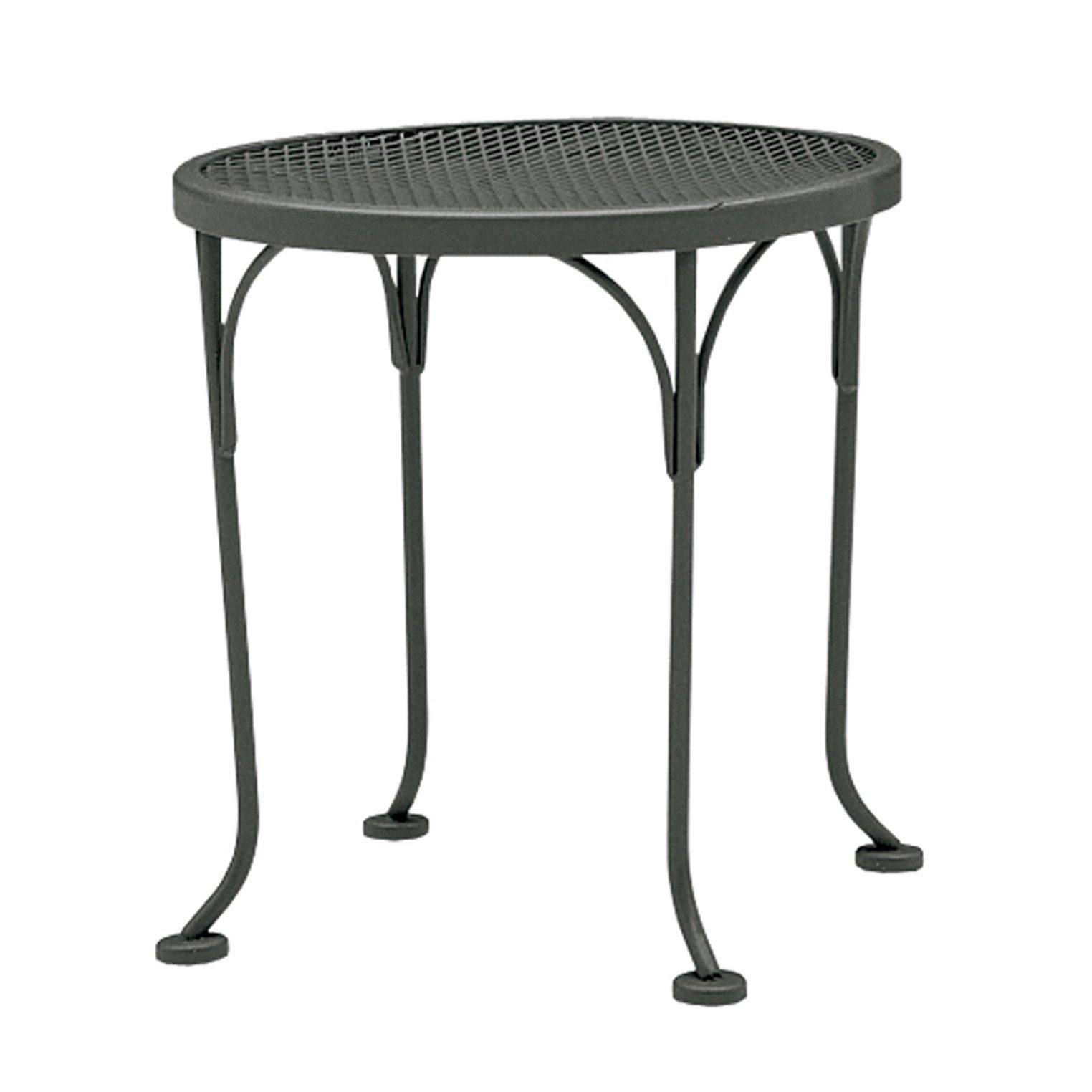 woodard briarwood round occasional wrought iron side table reviews patio accent target outdoor small coffee designs home theater furniture narrow end cherry night lamp retro