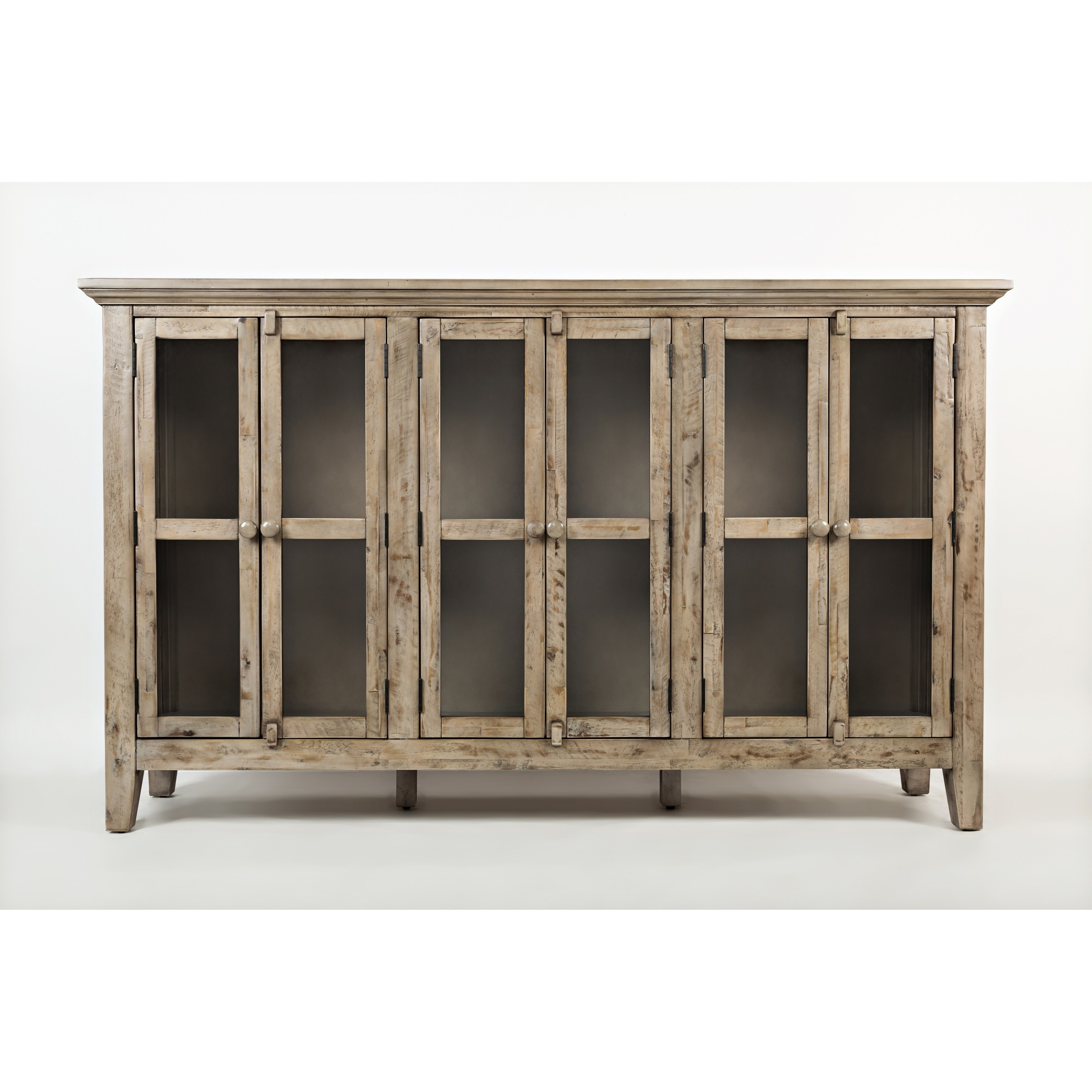 wooden accent cabinet with glass doors weathered gray table free shipping today decorative cabinets for living room home goods dressers tiffany look alike lamps high top outdoor