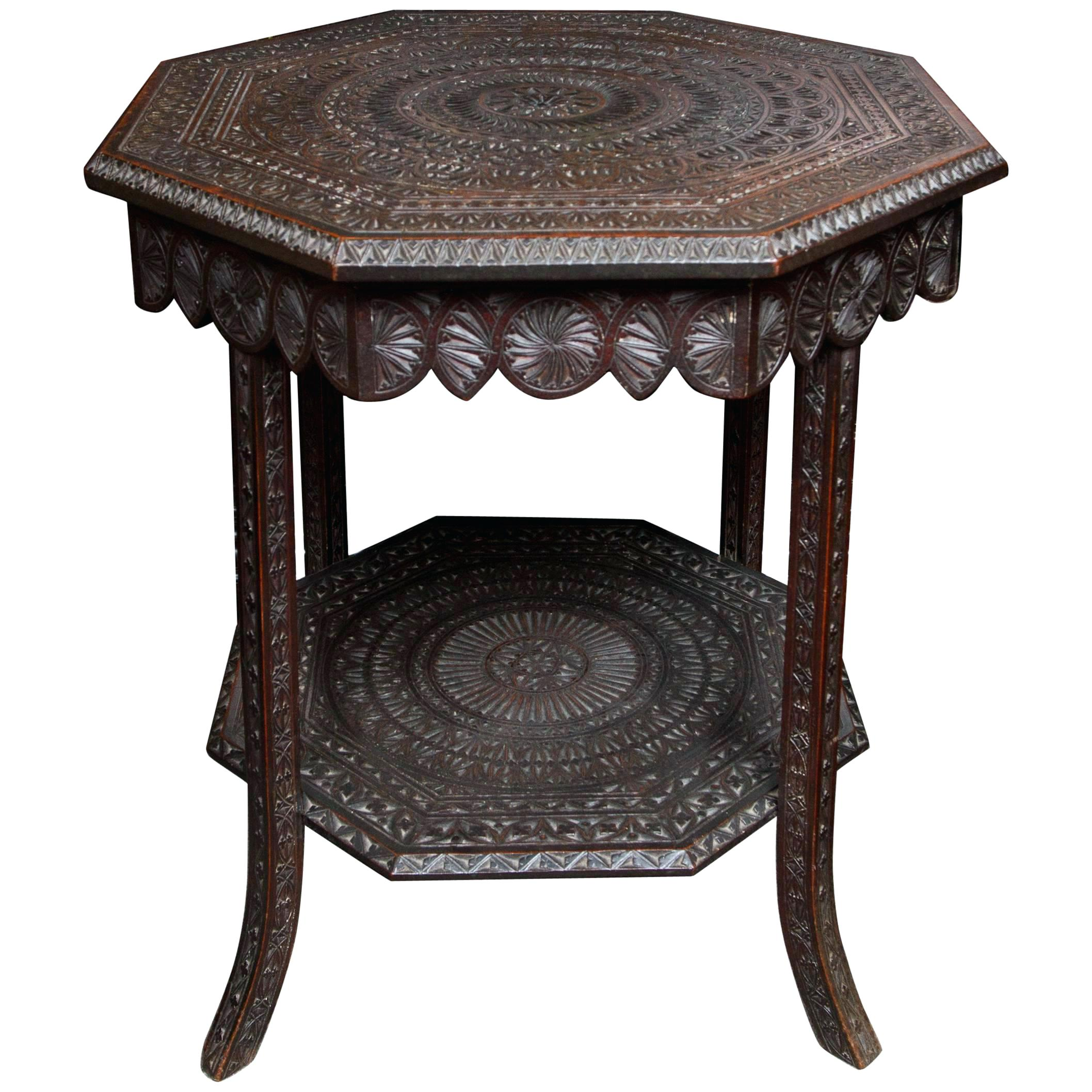 wooden outdoor side tables patio the arts crafts carved wood table for metal clearance transition trim skinny end ikea small oak white tray round outside furniture couch solid