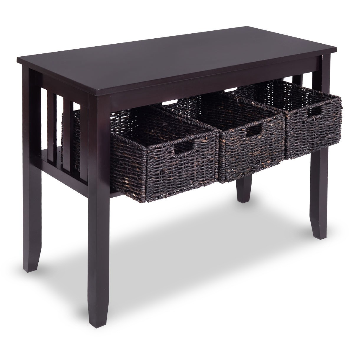 wooden rectangular side storage table with rattan accent zoey night baskets walnut mosaic kohls farmhouse dining room and chairs modern linens end tables doors glass tesco coffee