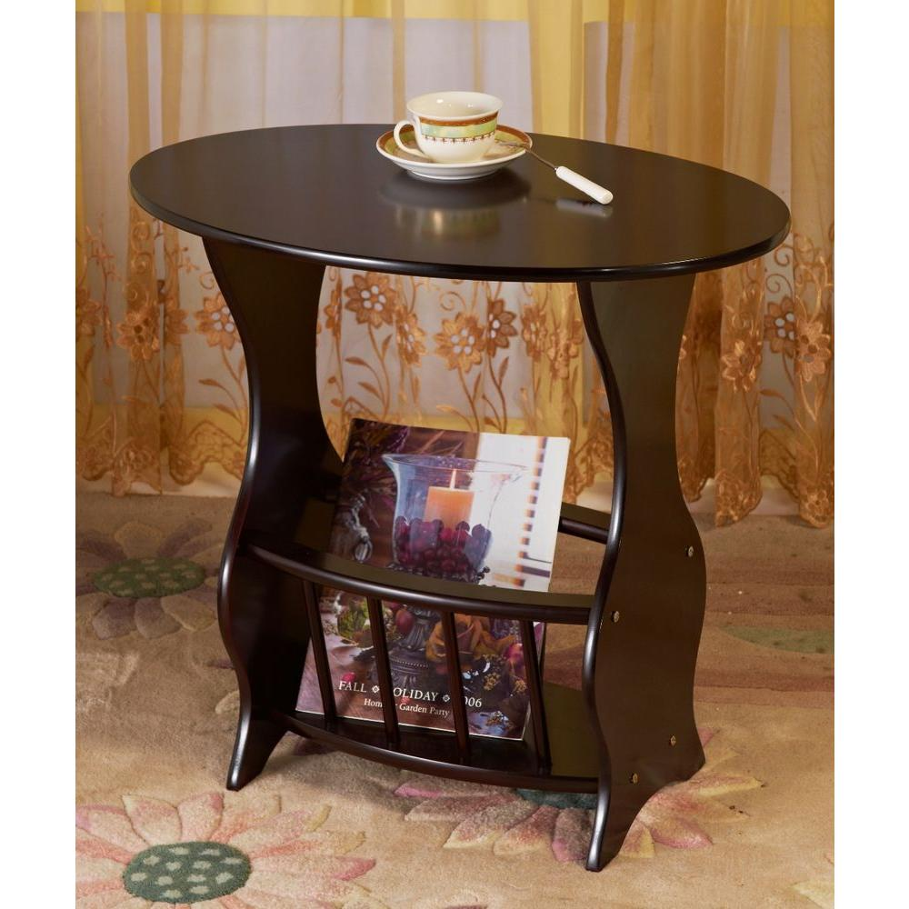 wooden storage end table oval top accent piece home bedroom cherry frenchi furnishing tables wood furniture side unit counter height dining set with bench cream colored magnussen