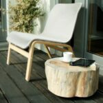 wooden stump table trunk side tree rolling casters white accent pine scandi style baumstamm rectangular patio furniture covers wicker chair bedroom chairs outdoor tall mirrored 150x150