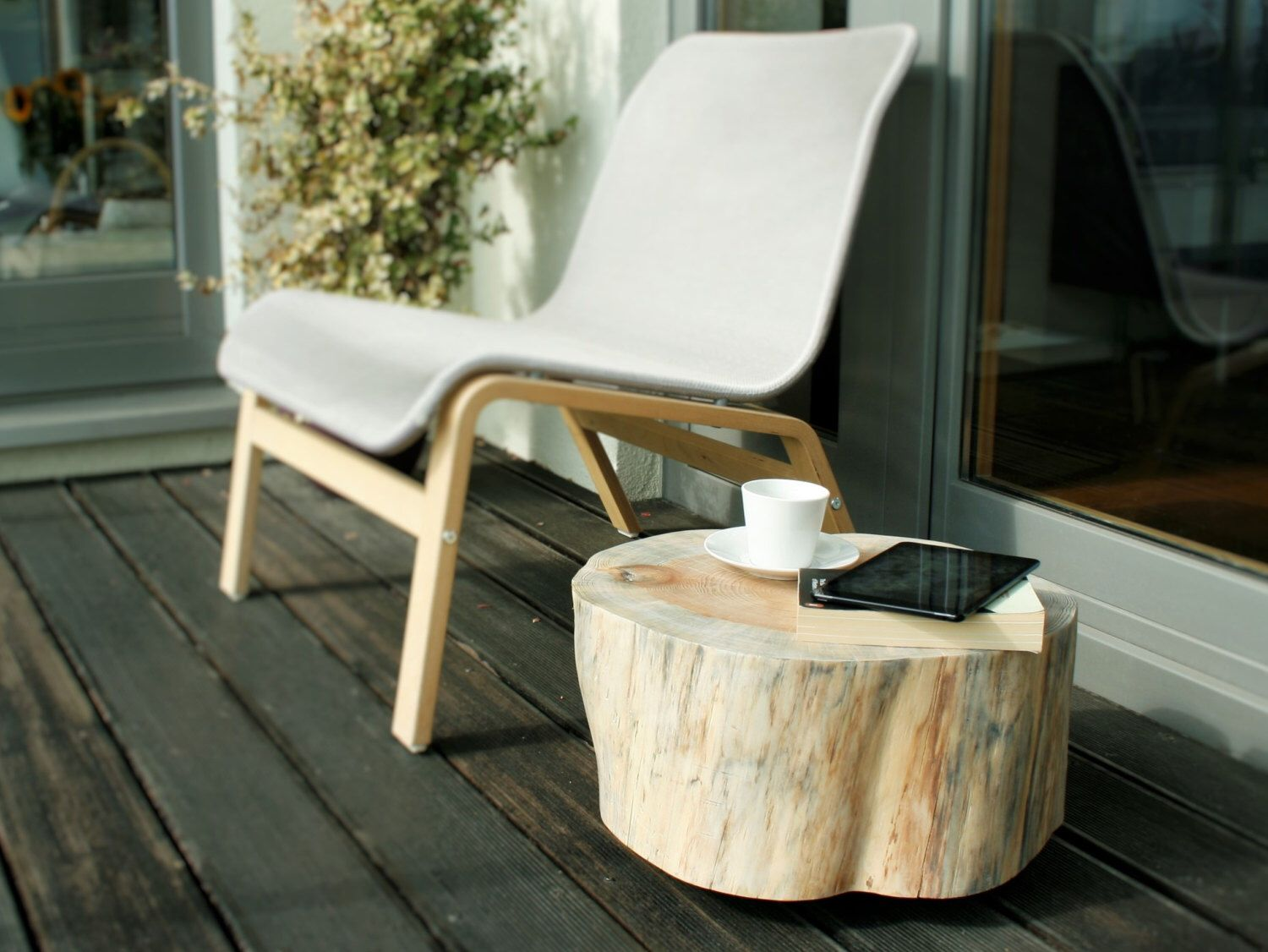 wooden stump table trunk side tree rolling casters white accent pine scandi style baumstamm rectangular patio furniture covers wicker chair bedroom chairs outdoor tall mirrored