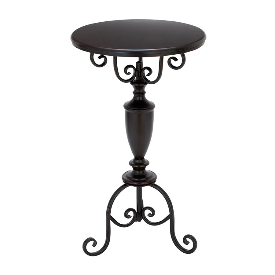 woodland imports accent metal alloy round dining table vintage outdoor tables pier one ott legs chairs from tiffany lamps koncept lighting rolling side small black inch lamp