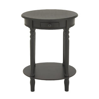 woodland imports gwg oval shape wood accent table brown prod uma finish with drawer shelf bdi furniture dining room clearance dark farmhouse tall entryway moroccan drum trestle