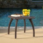 woodridge outdoor brown wicker side table gdf studio blue accent chest patio furniture covers gallerie beds chair and ott antique bench small oak coffee counter height pub set 150x150