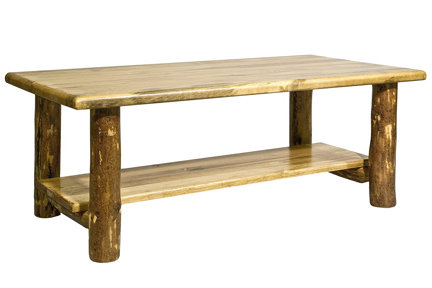 woodworks collection glacier country log coffee wood accent table stained and lacquered finish kitchen dining brass frame pier imports outdoor cushions pillows edington patio