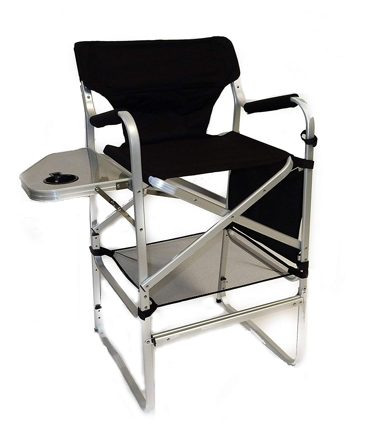 world outdoor products lightweight professional tall side table directors chair with footrest cup holder carry handles storage bag and lower level threshold floor lamp target