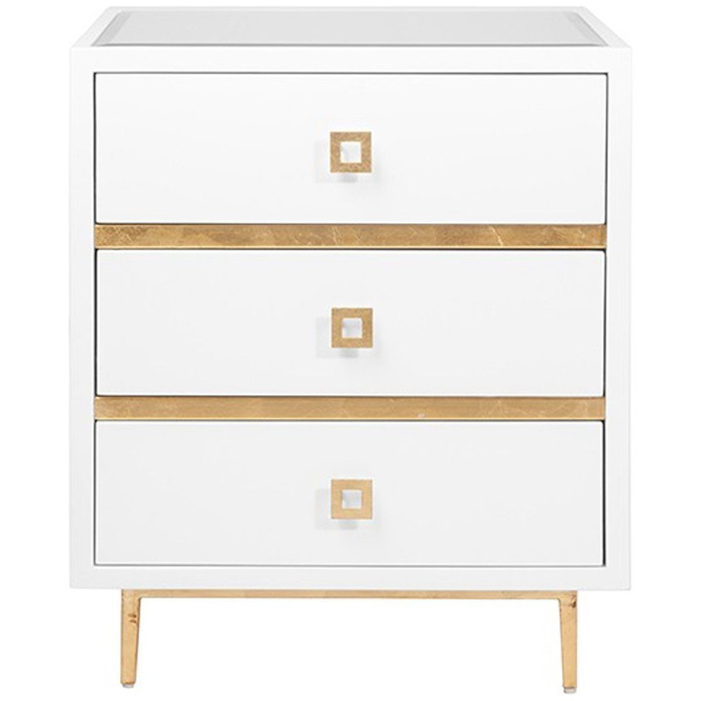 worlds away accent tables gold white three drawer benjamin way hyde whg table side round metal coffee ivory area rug glass plant stand cream frog drum ikea bedside barewood