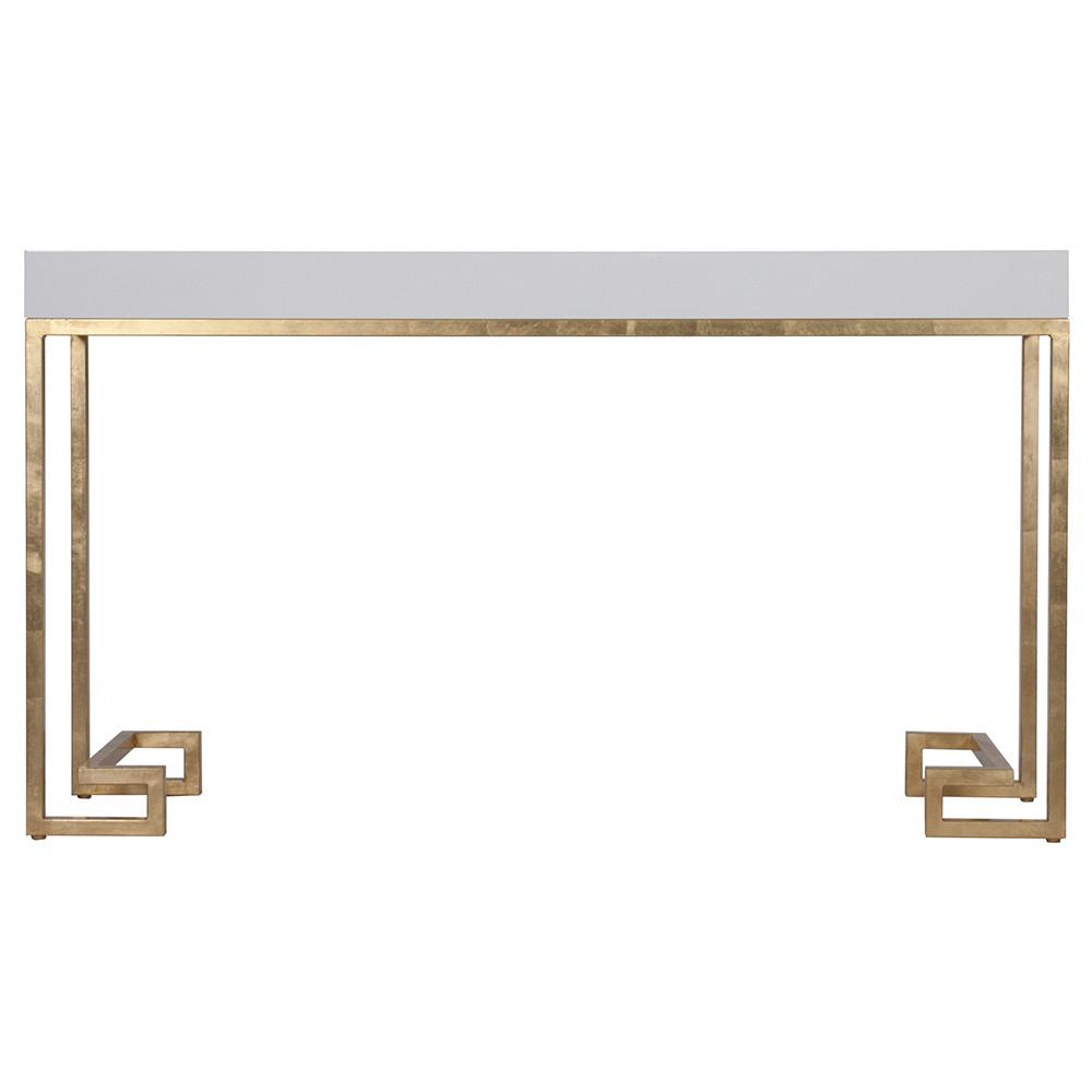 worlds away white lacquer console table with gold leaf greek key base barsanti whg accent decorative chairs small outdoor patio set kitchenette furniture acrylic snack designer
