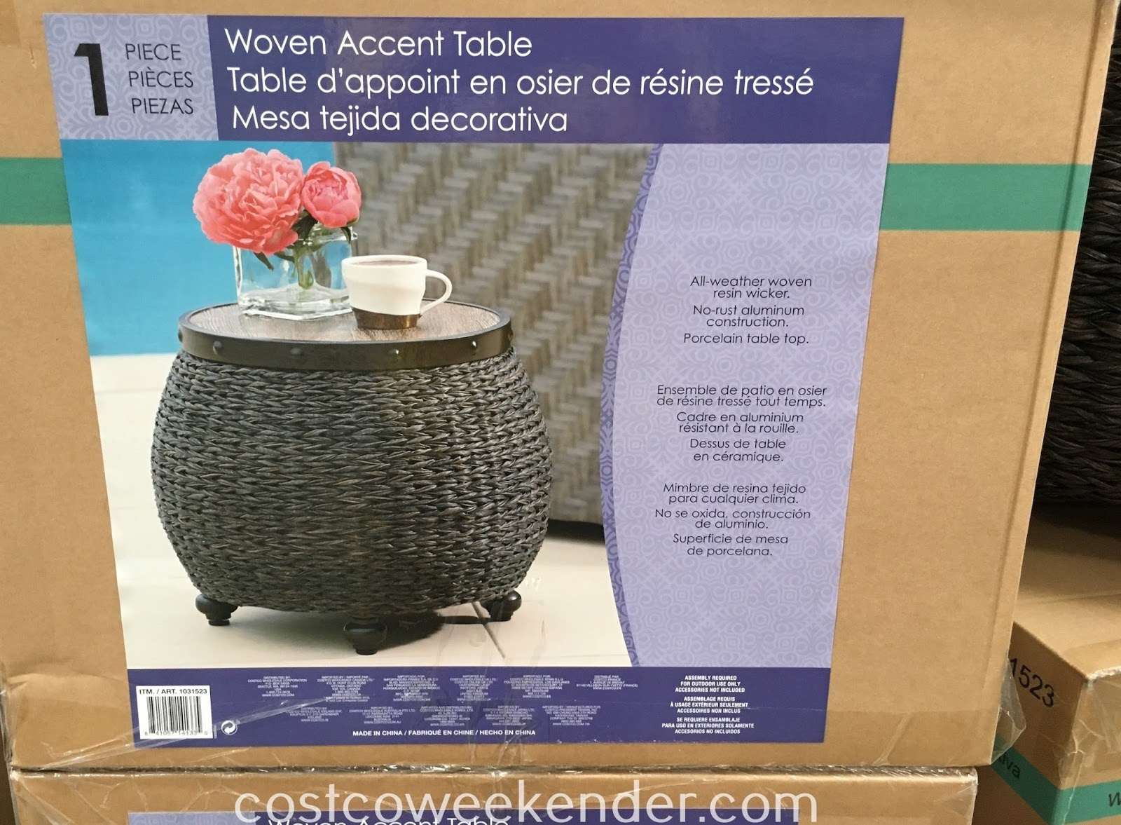 woven accent table weekender have place set your drink tablet book when lounging outside with round coffee tables half moon dining argos bedroom furniture antique hall cupcake