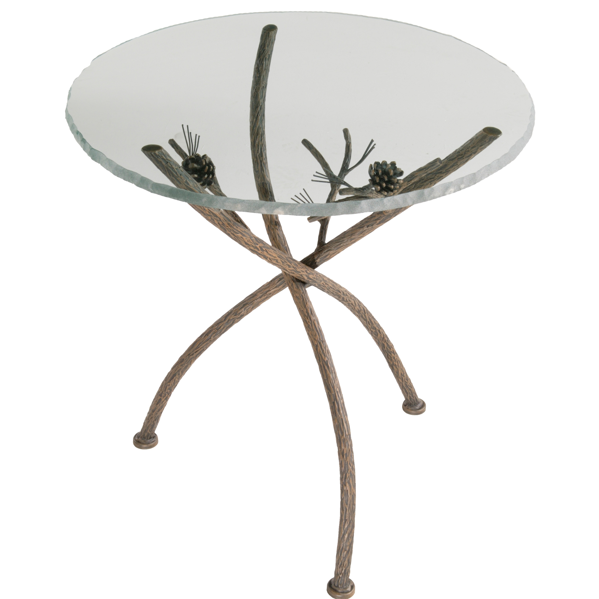 wrought iron accent table rustic pine tables glass top with and natural bark larger metal bar threshold sofa doors target marble white wine cabinet ikea hallway ideas battery