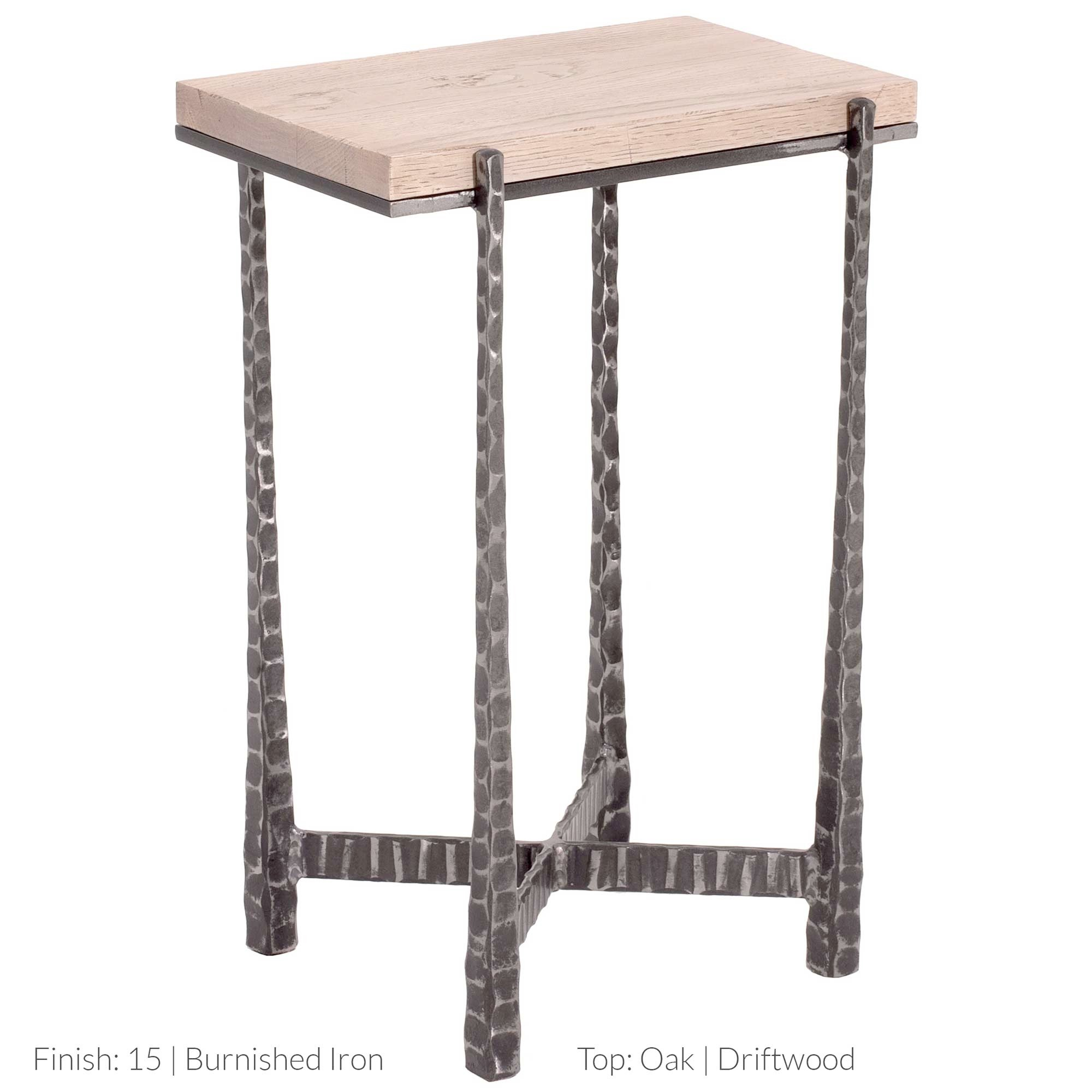 wrought iron accent table tured the nash rectangular drink hand crafted artisans charleston forge tall skinny lamps long tablecloths round patio mapex drum stool parsons side