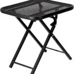 wrought iron folding patio side coffee table outdoor metal black accent tables ashley furniture rustic end square wood target pier promo code pottery barn tiffany butterfly lamp 150x150