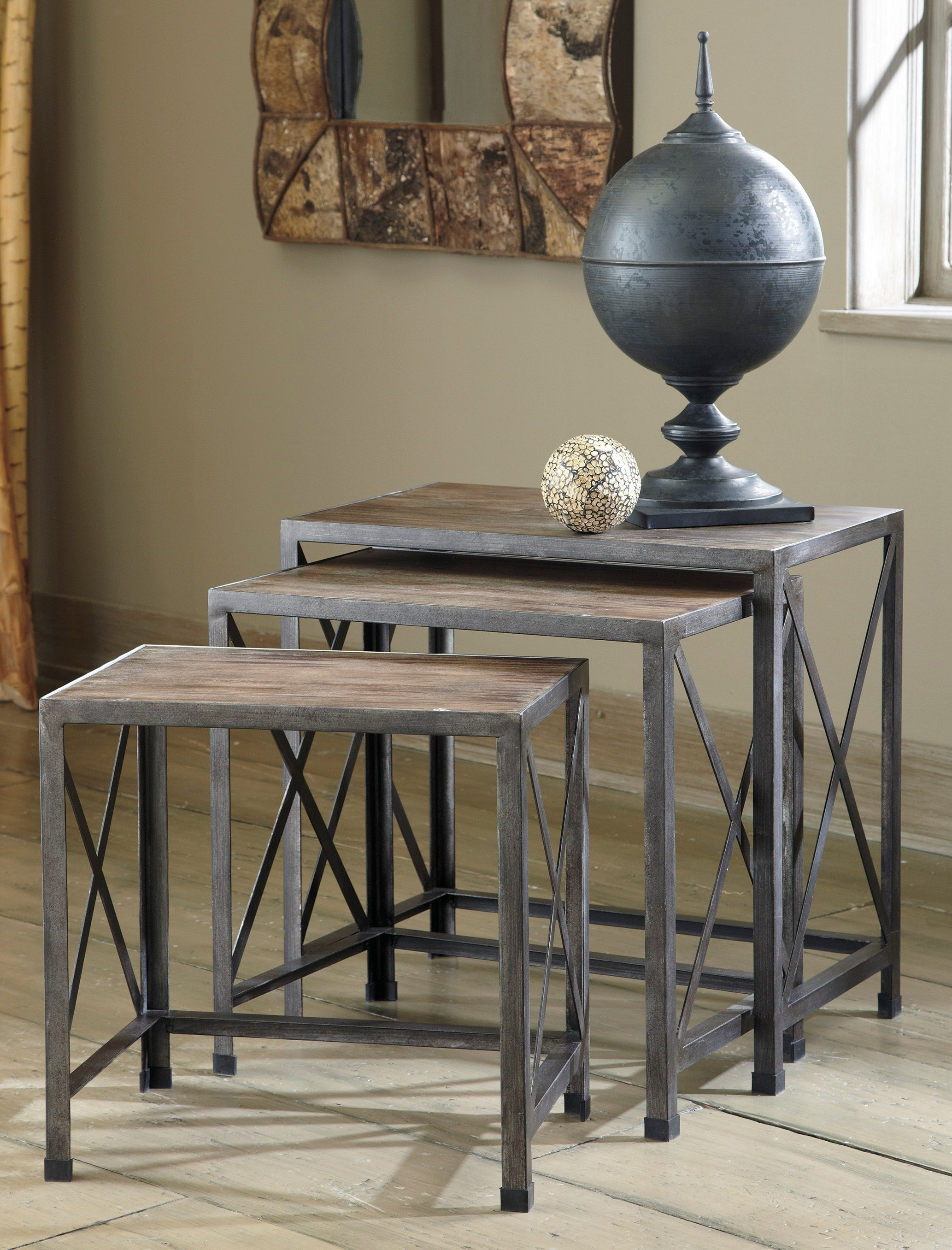 wrought iron side table with glass top probably perfect best ashley furniture coffee and end tables drinker rustic accents nesting star rating breegin marble sofas entryway bench