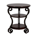 wrought iron side table with glass top probably perfect best off ashley furniture round wood end tables mahogany white cube bedside two drawer nightstand barbie doll coleman queen 150x150
