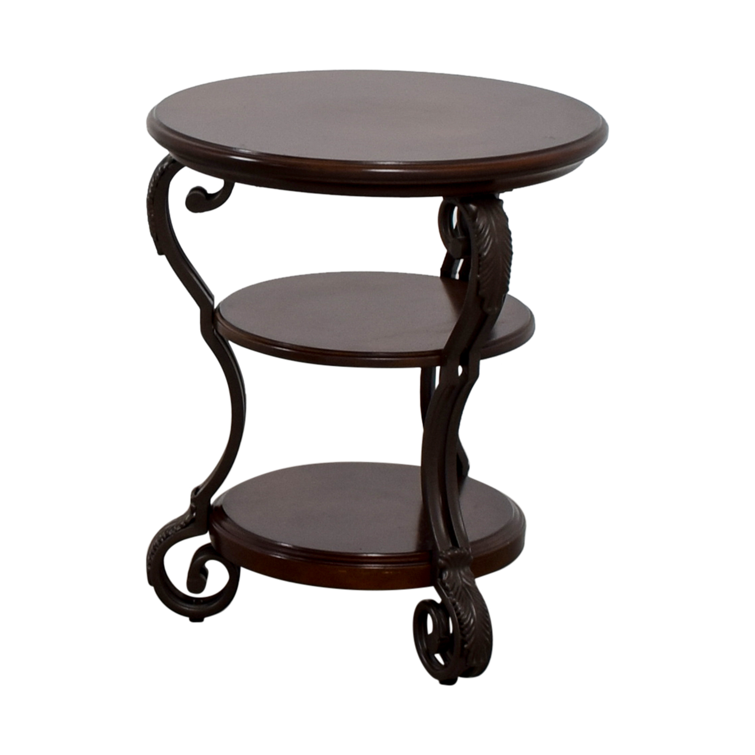 wrought iron side table with glass top probably perfect best off ashley furniture round wood end used tables nyc white cube bedside coleman queen airbed cot pole lamp oriental