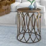 wrought studio stanley end table reviews metal eyelet accent black glass and chrome side ashley furniture occasional set coffee size marble top tables with drawers shabby chic 150x150