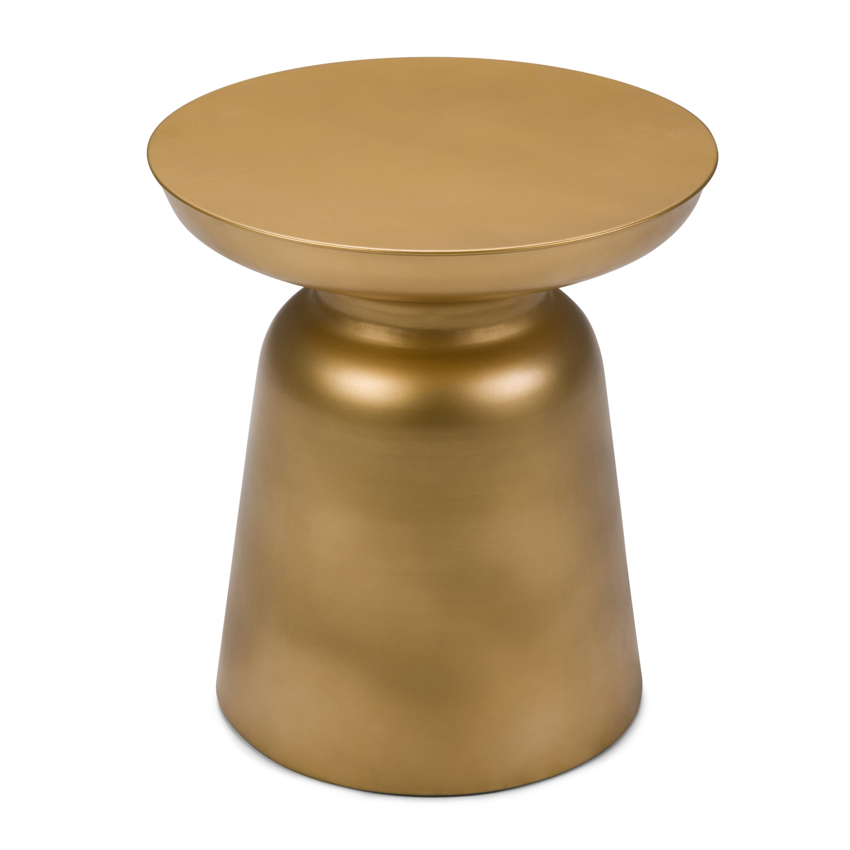 wyndenhall layne metal accent drum side table gold free shipping today tier target unfinished cabinets white modern usb end mirrored brass marble square coffee teal chair