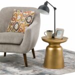 wyndenhall layne metal accent drum side table gold large round living room sets furniture legs wood floor trim ashley set high console modern marble dining linens stacking tables 150x150