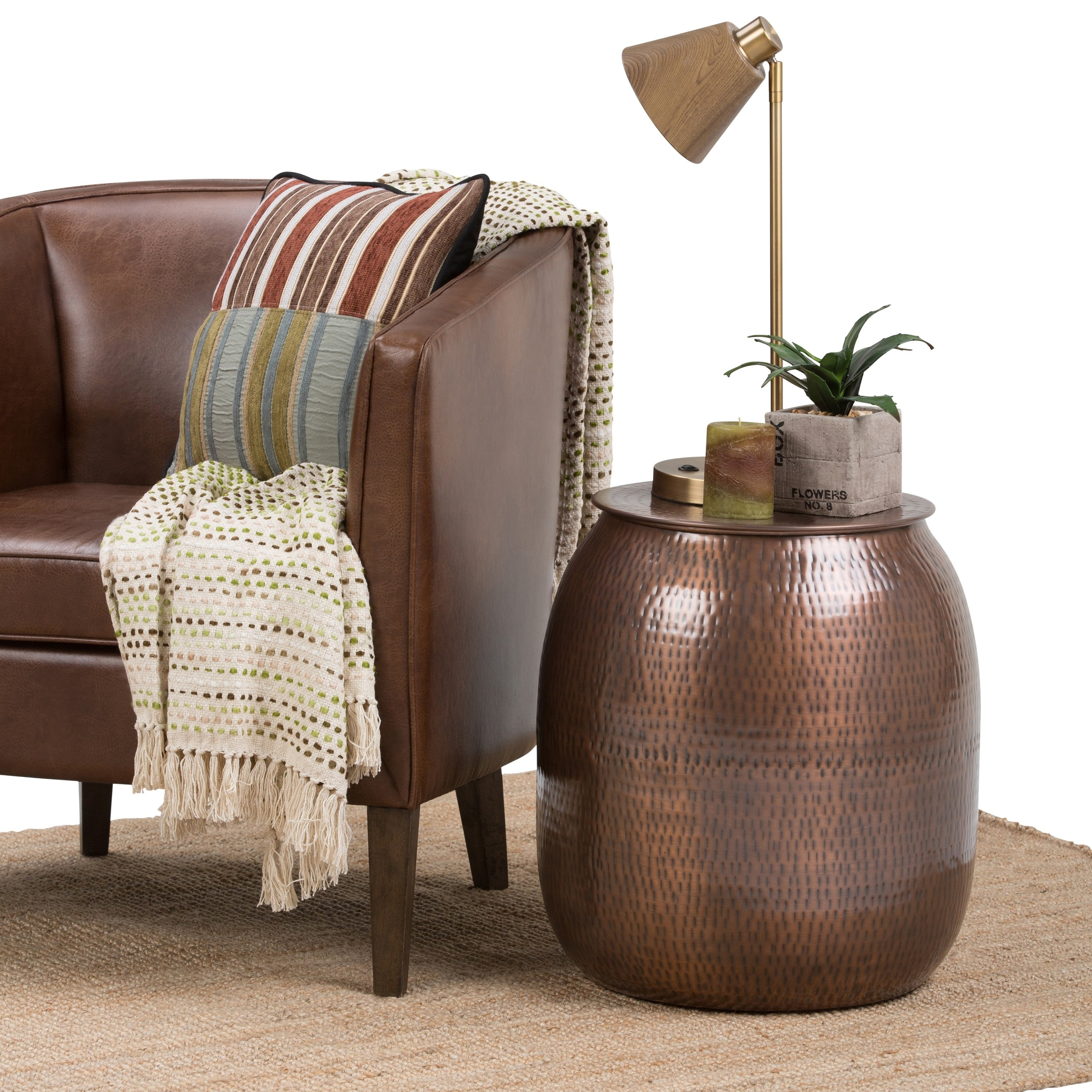 wyndenhall riva metal storage accent side end table antique copper drum free shipping today chesterfield sofa glass silver grey tablecloth folding patio dining lucite round styles