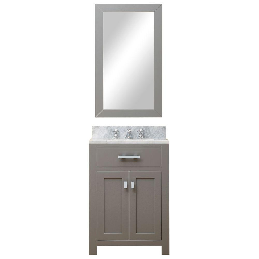 wyndham collection sheffield vanity white with marble water creation vanities tops madison don mirrored accent table clear cashmere grey farmhouse bedroom slim drop leaf plastic