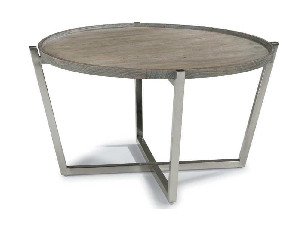 wynwood flexsteel company platform contemporary round cocktail products collection color threshold parquet accent table platformround skinny console with storage tall dining room