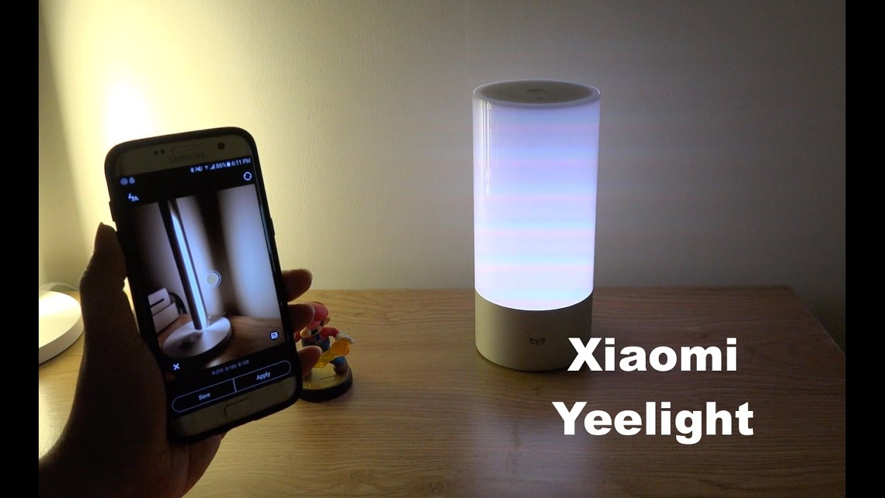 xiaomi yeelight smart nightstand lamp unboxing testing heyburn brushed steel accent table with usb port threshold teal cabinet armless living room chairs office desk furniture