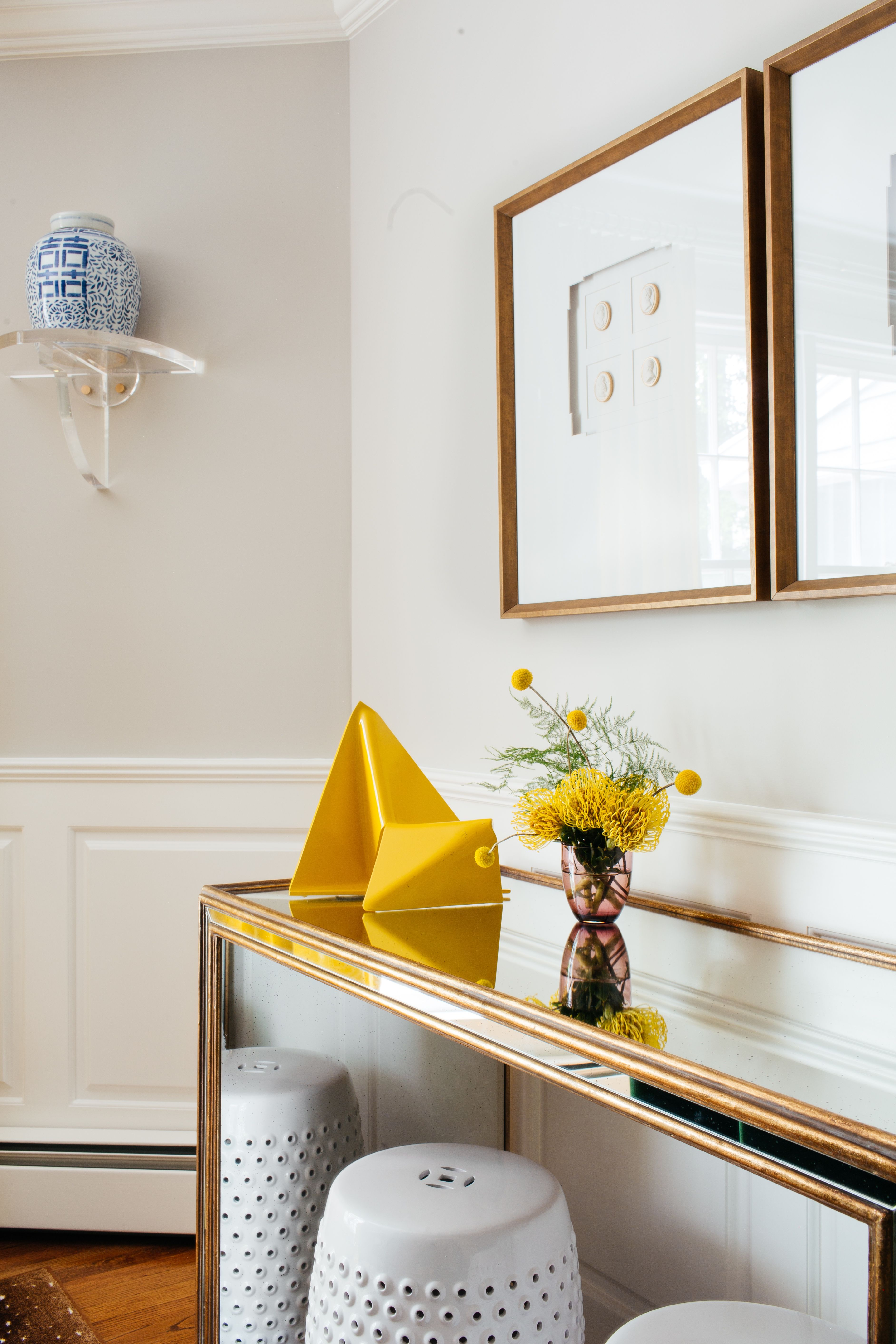 yellow accent pieces wall art mirrored table white ceramic side tables blue chinese urn project danforth palomino bazaar black with drawer barn doors for dining room trestle used