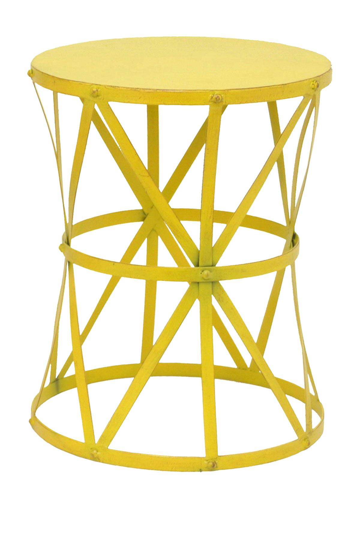 yellow accent table light storage cabinet small bomer three hands metal mustard fretwork threshold wichita furniture night lamp end covers square bedside set college room ideas