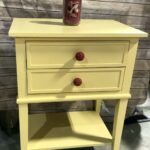 yellow accent table round buttercup home drawers light colored tables metal with collection and decor ikea wardrobe storage gold console patio umbrella small kitchen chairs leaf 150x150