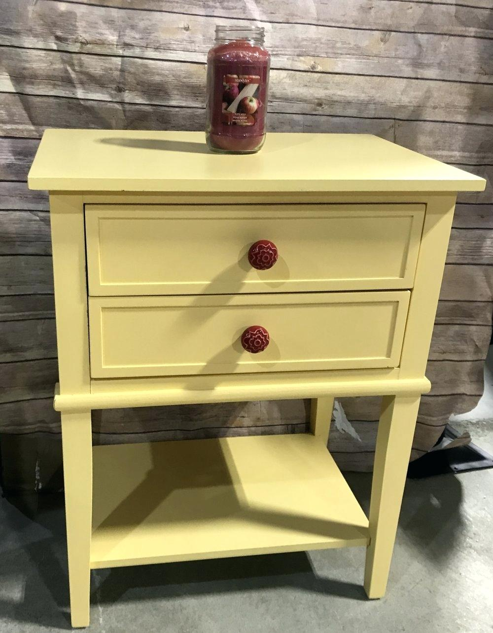 yellow accent table round buttercup home drawers light colored tables metal with collection and decor ikea wardrobe storage gold console patio umbrella small kitchen chairs leaf