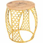 yellow metal accent table cambridge home afw outdoor ture rattan gold glass top coffee reclaimed wood round side copper drum end bedroom design small black mcguire furniture and 150x150