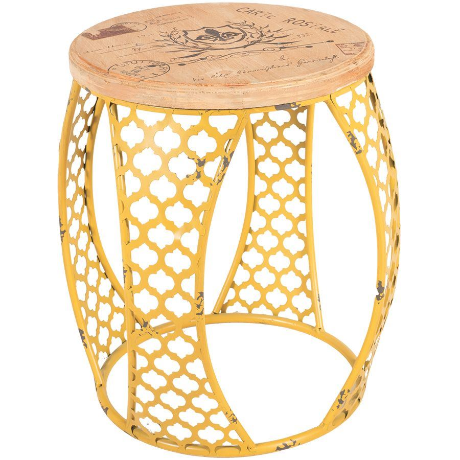 yellow metal accent table cambridge home afw outdoor ture rattan gold glass top coffee reclaimed wood round side copper drum end bedroom design small black mcguire furniture and
